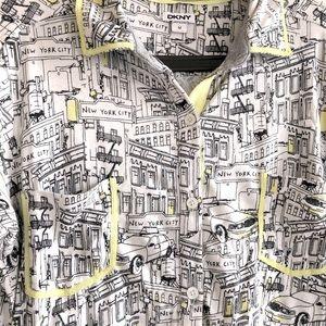 DKNY NYC Cotton Pajama Top Swim Cover Up
